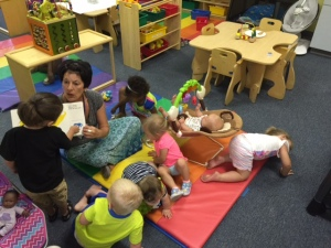 Brenda reading with babes 2